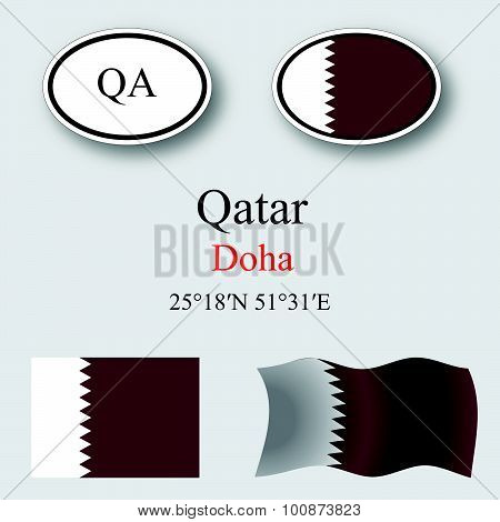 Qatar Icons Set