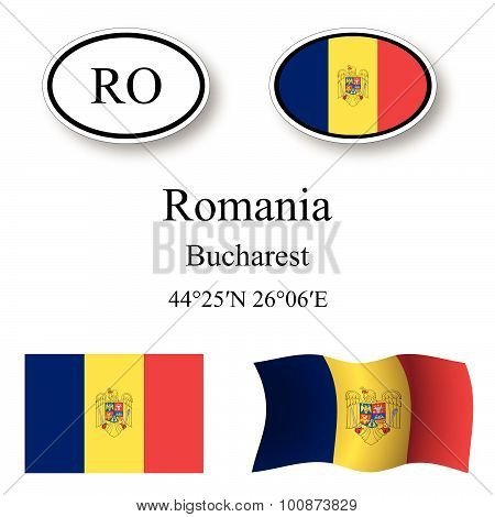 Romania Icons Set