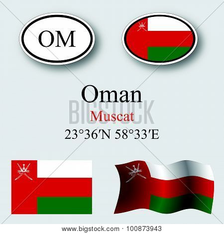 Oman Icons Set