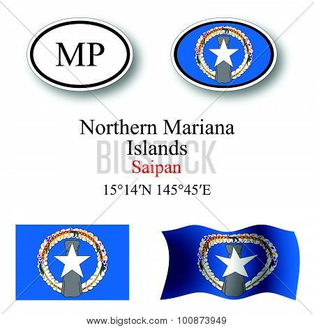 Northern Mariana Islands Icons Set