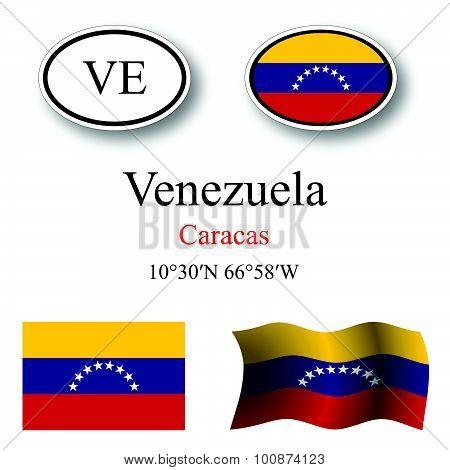 Venezuela Icons Set