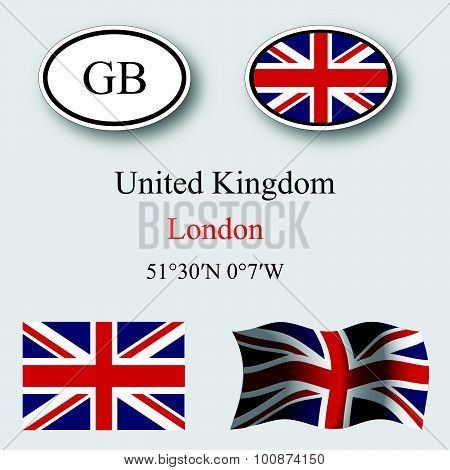 United Kingdom Icons Set