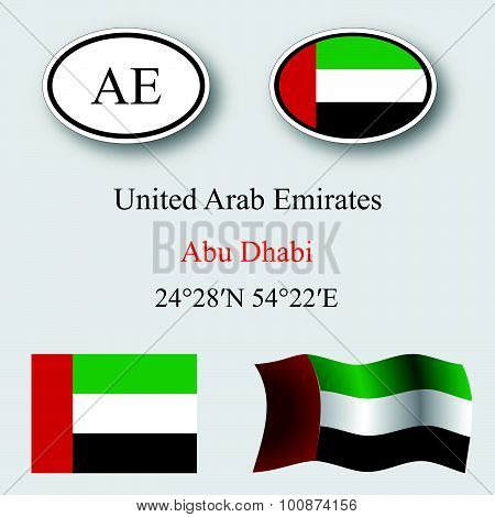 United Arab Emirates Icons Set