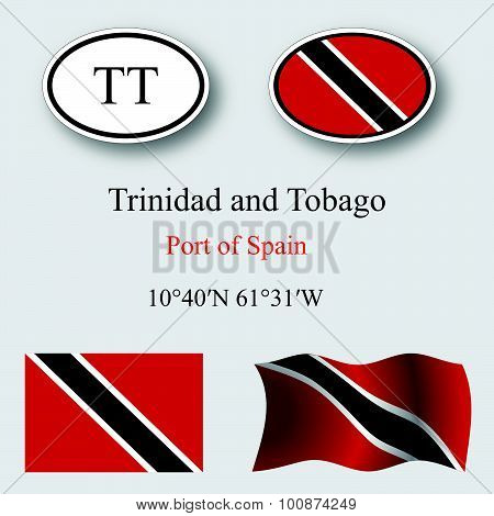 Trinidad And Tobago Icons Set