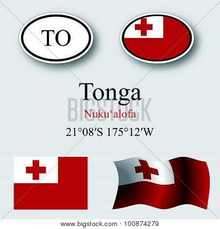 Tonga Icons Set