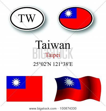 Taiwan Icons Set