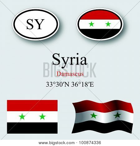 Syria Icons Set