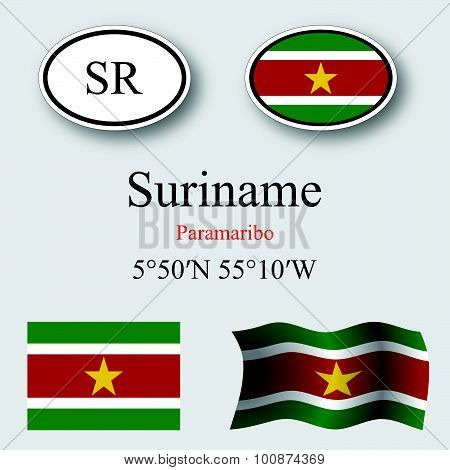 Suriname Icons Set