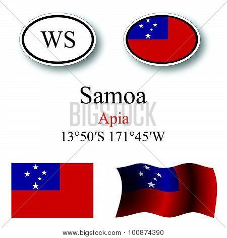 Samoa Icons Set
