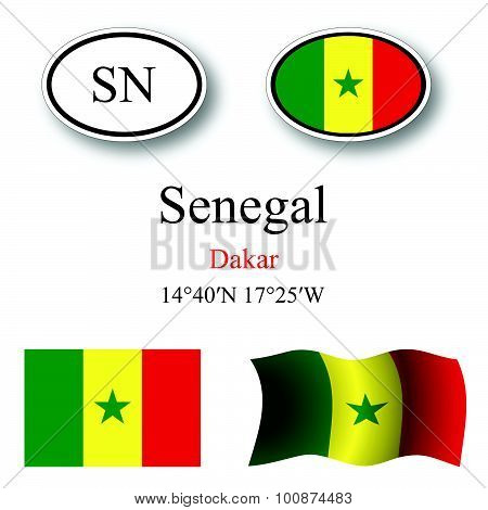Senegal Icons Set
