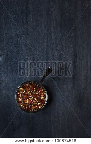 Plate With Condiment