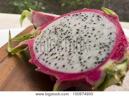 Dragon Fruit Pitahaya Pitaya Tropical Healthy Thai Concept