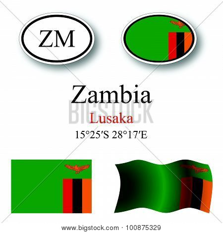 Zambia Icons Set