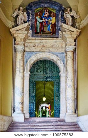 Vatican City, Vatican - October 29: One Of The Official Entrances To The Vatican, Which Protects The