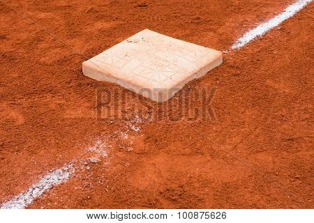 Base In Baseball Field