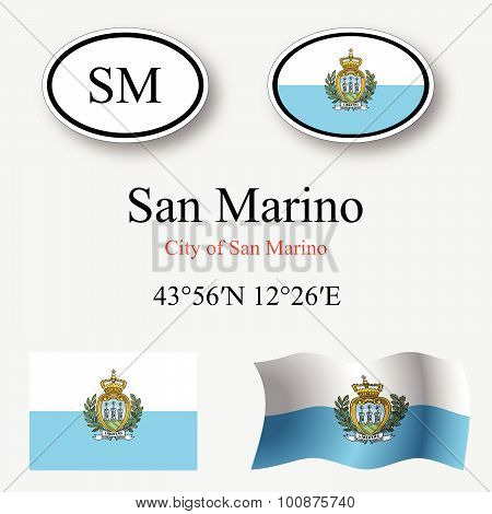 San Marino Icons Set