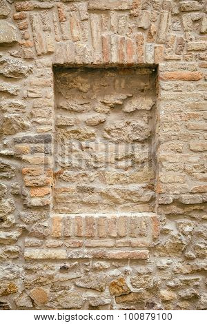 Brick-encased Window