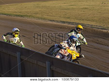 Speedway Rider On The Track
