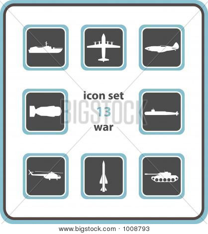 Vector Icon Set 13: War