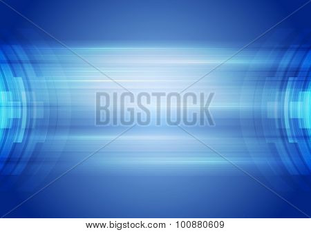 Abstract blue hi-tech corporate background. Vector art design
