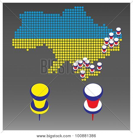 Infographics War In Ukraine, Vector Illustration.