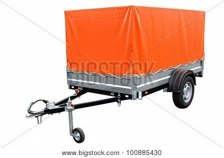 Orange Car Trailer