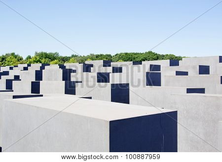 a photo of the holocaust monument in berlin