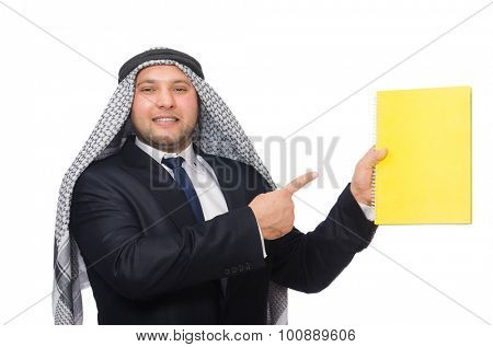 Arab businessman isolated on white