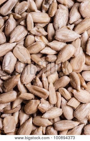 Sunflower Seeds As Food Background