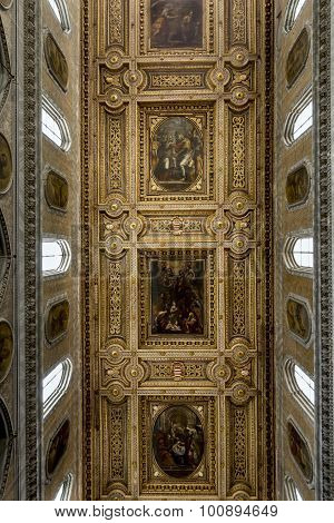 Ceiling Of The Naples Cathedral