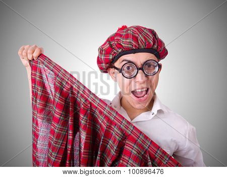 Funny scotsman isolated on the white