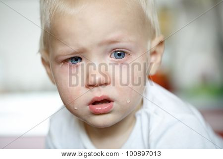 Small, Crying Toddler In Pain