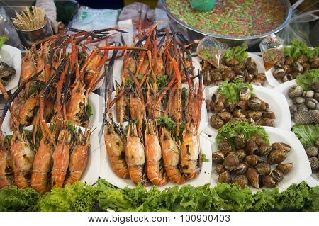 Asia Thailand Bangkok Riverside Food Streetfood Seafood