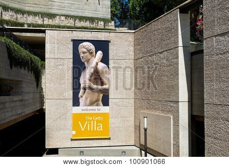 The Getty Villa Entrance