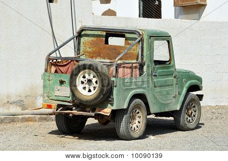 Old Vehicle In Arabic City Of United Arab Emirates