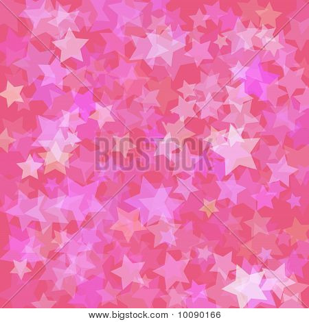 Stars pink background