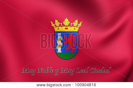 Flag Of Badajoz City, Spain.