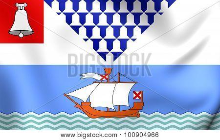 Flag Of Belfast City, Northern Ireland.