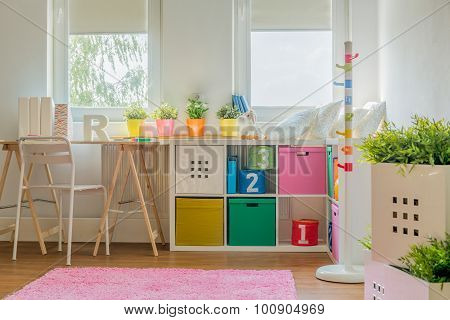 Colorful Decoration In Kids Room
