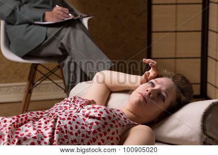 Woman During Psychoanalysis