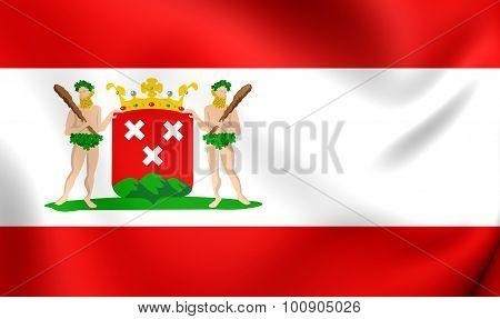 Flag Of Bergen Op Zoom City, Netherlands.