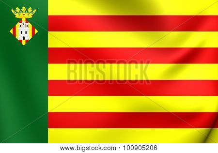 Flag Of Castellon De La Plana City, Spain.