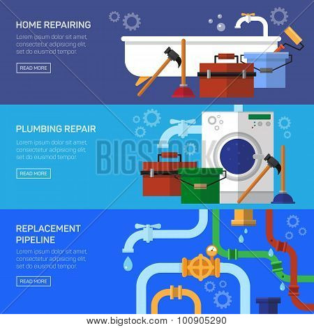 Plumbing repair fix the clog pipeline