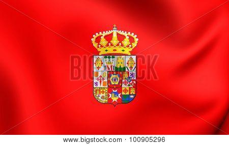 Flag Of Ciudad Real Province, Spain.