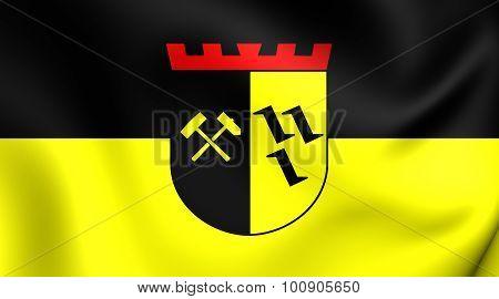 Flag Of Gladbeck City (north Rhine-westphalia), Germany.