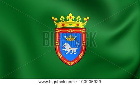 Flag Of Pamplona City, Spain.
