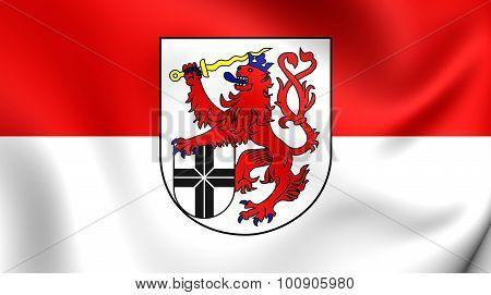 Flag Of Rhein-sieg-kreis (north Rhine-westphalia), Germany.
