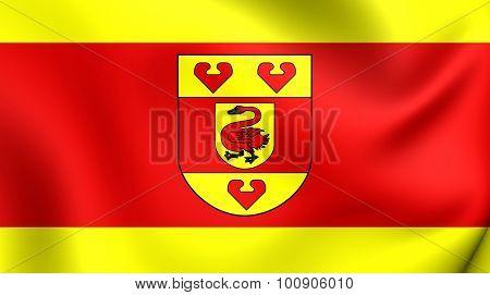 Flag Of Steinfurt Kreis (north Rhine-westphalia), Germany.