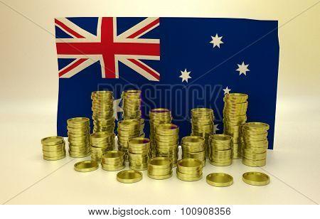 finance concept with Australian flag