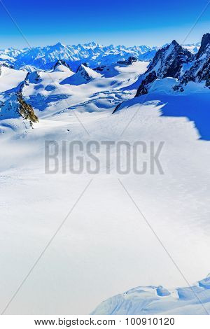 Mont Blanc, view from Aiguille du Midi
